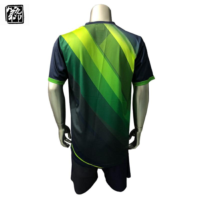 Navy & Green Dye sublimated Soccer kits football uniform